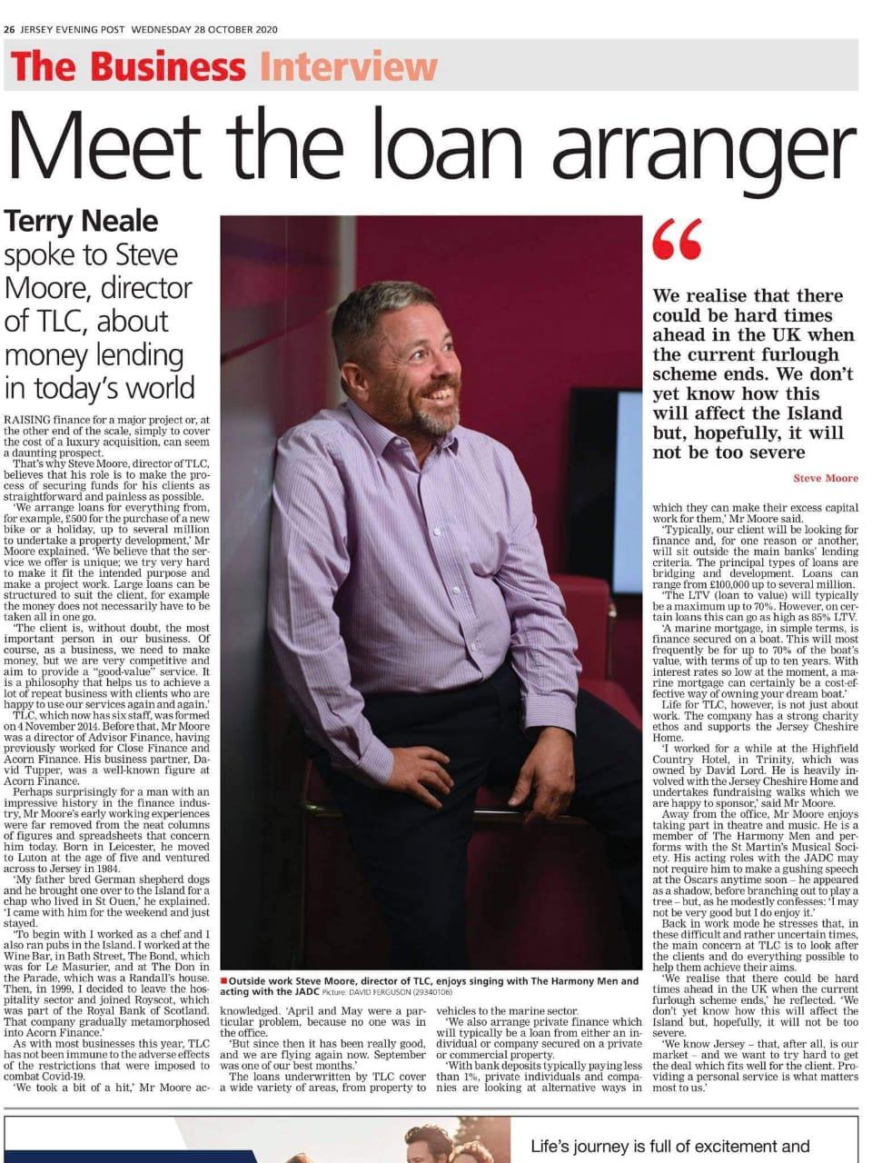 Steve Moore: Loan Arranger