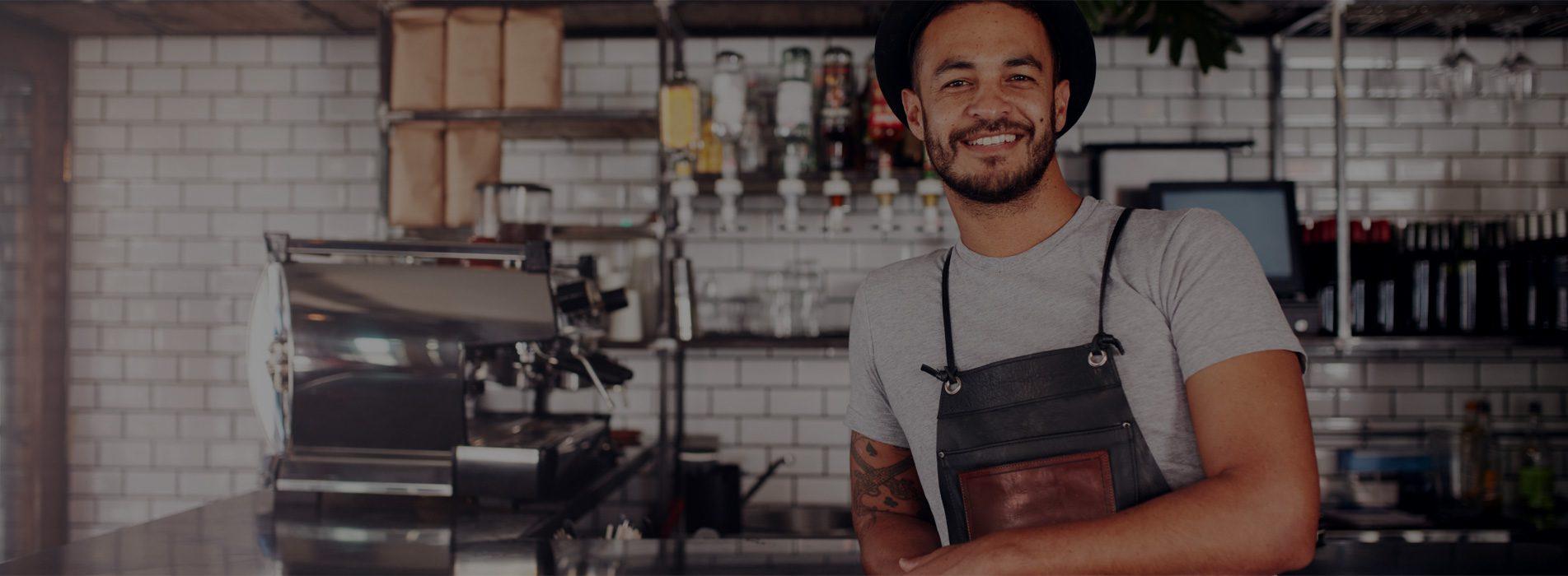 Photo of man in kitchen